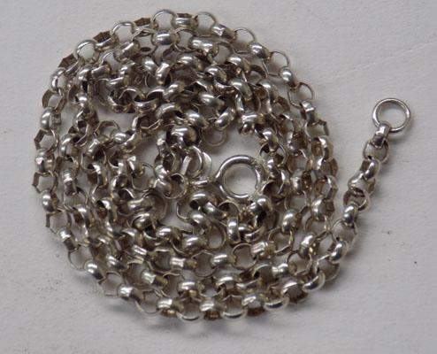"Approx 18"" sterling silver Belcher chain"