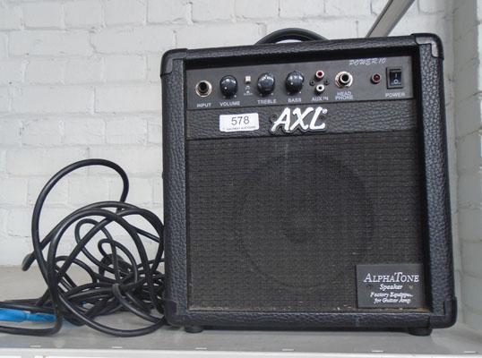 Axl amp with leads