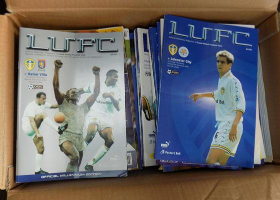 Box of mint condition LUFC programmes