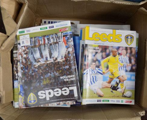 Box of Leeds United football programmes (mint condition)