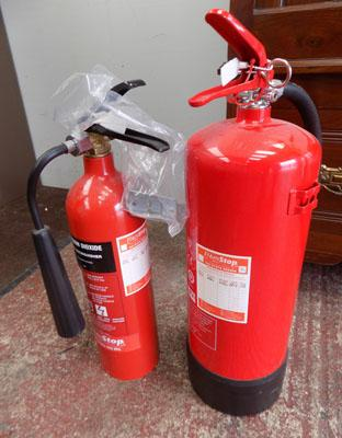 2 Fire extinguishers, new