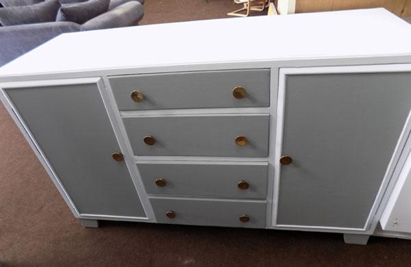 Sideboard with 4 drawers, 2 cupboard