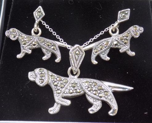 Set of silver & Marcasite jewellery