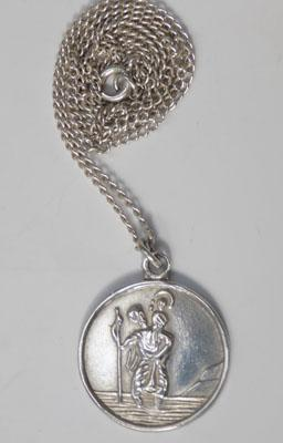 Sterling silver St Christoper necklace
