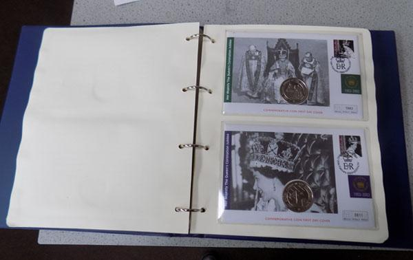 Queens Jubilee coin & First Day cover collection