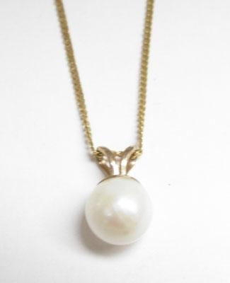 9ct Gold Pearl necklace
