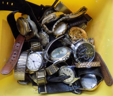 Job lot of watches, some silver (untested)