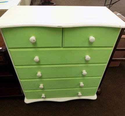 2 on 4 Drawer chest