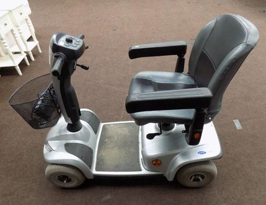 Invacare mobility scooter (key in office) w/o