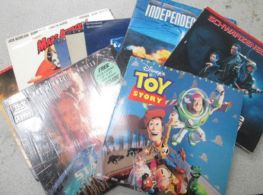 Collectable laser disc movies