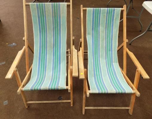 2x Deck chairs