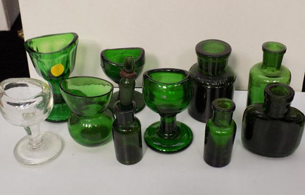 Collection of Victorian bottles & Bud vases