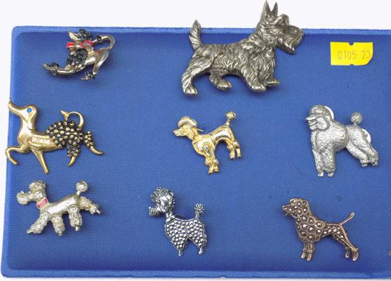 Selection of Dog brooches