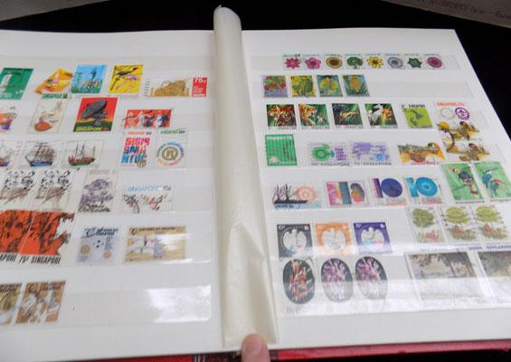 Large stockbook Commonwealth stamps