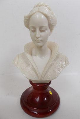 Bust of lady, signed 'A Gain'