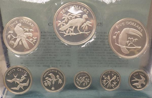 1974 Belize silver proof set boxed with certificate