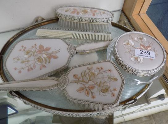 Dressing table set & matching tray