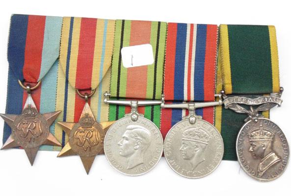 5 Medals & bar-Cpl H Booth