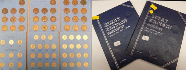 Great Britain shillings collection & Great Britain pennies collection