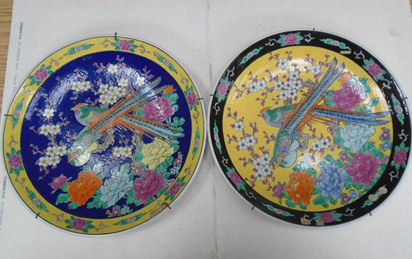 Pair of large Oriental chargers