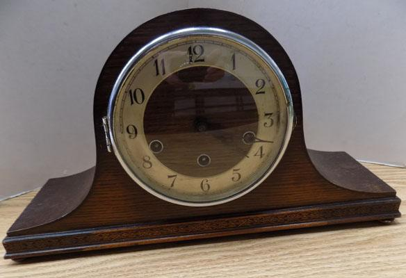 Napoleon hat clock, Westminster chime with key & pendulum (in office)
