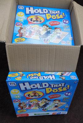 Box of 6x 'Hold that pose' games (twister)