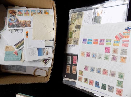 Box inc album of earlier Commonwealth stamps etc
