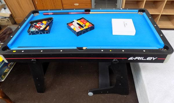 Riley pool table with cues etc