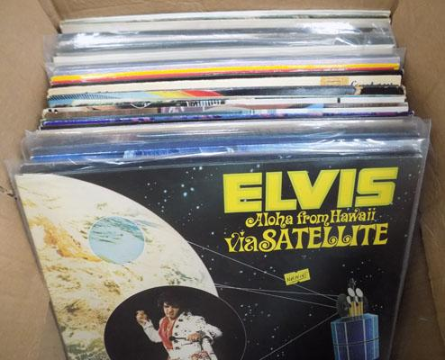 Box of collectable vinyl albums