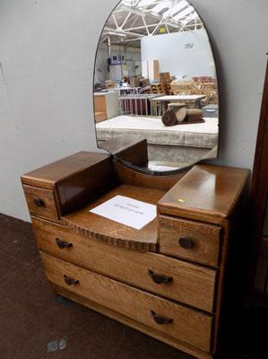 Mirror back dressing table