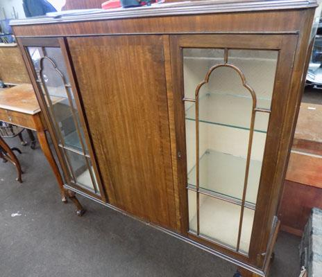 Glass fronted display cabinet (key in office)