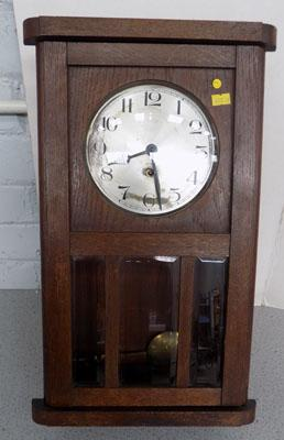 Vintage clock with key & pendulum (in office) w/o