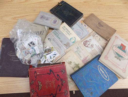 2x Boxes of cigarette albums with cards