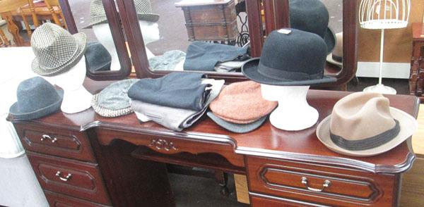 Collection of hats & waistcoats