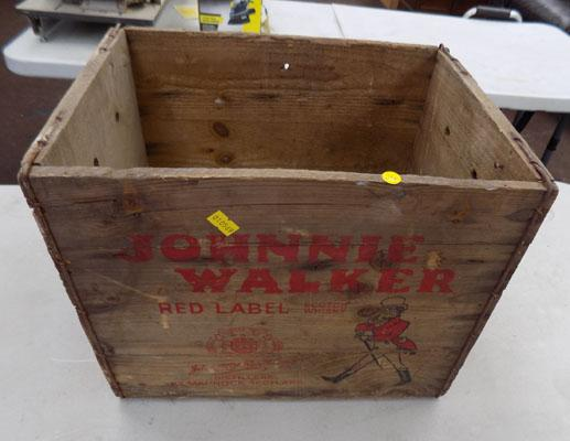 Jonnie Walker whisky wooden crate