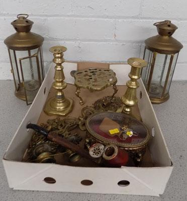 Box of quality brass items