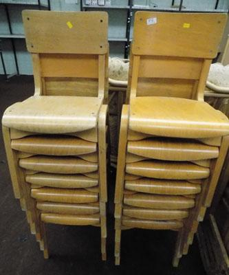 Job lot of stacking school chairs