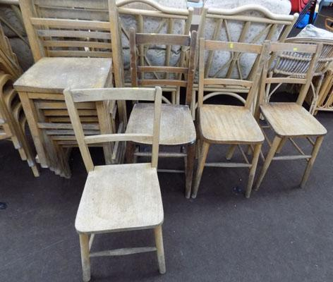 Job lot of stacking school chairs + 4 others