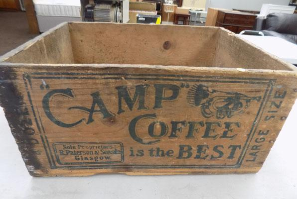 Camp coffee wooden crate
