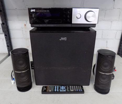 JVC, DVD, hifi player  (remote in office) w/o