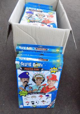 Box of selfie booth kits