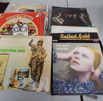 Box of collectable records