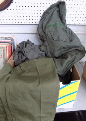 Box of Army clothing