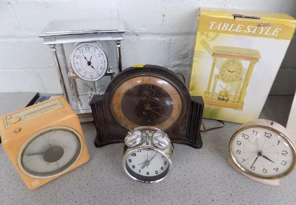 Collection of clocks-some vintage