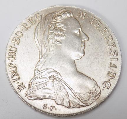 1780 Silver Mother Theresa  coin (SF initials)
