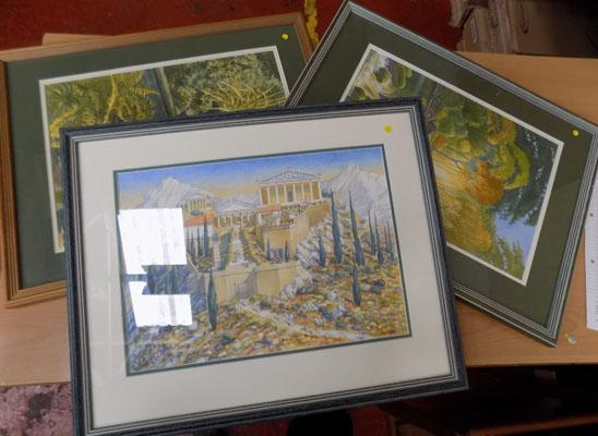3 framed prints by John  Ayers