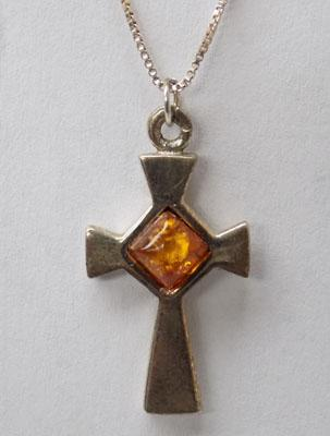 Sterling silver Amber necklace