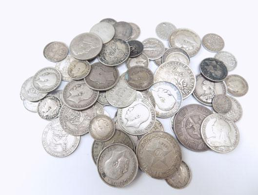 Bag of silver coins
