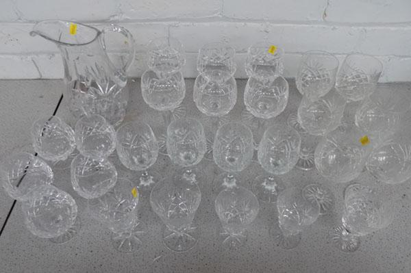 Large selection of crystal glasses