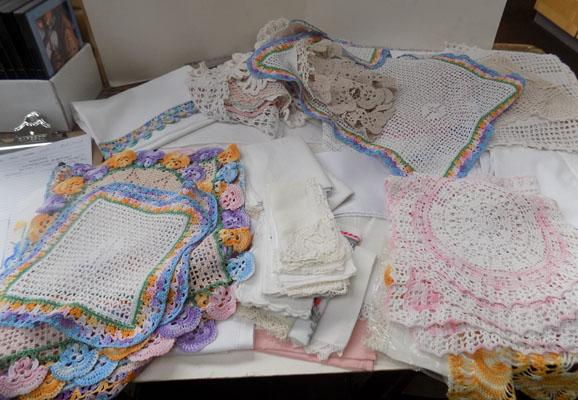 Large selection of vintage linen